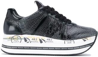 Premiata Beth snakeskin-effect sneakers