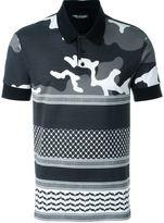 Neil Barrett patterned camouflage polo shirt