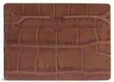 Trask Men's 'Jackson' Leather Card Case - Brown