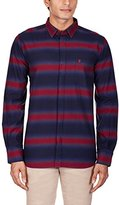French Connection Men's Bailey Ombre Stripe Long Sleeve Button Down Shirt