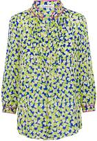 Libelula Delphine Top Blue and Yellow Hearty Print