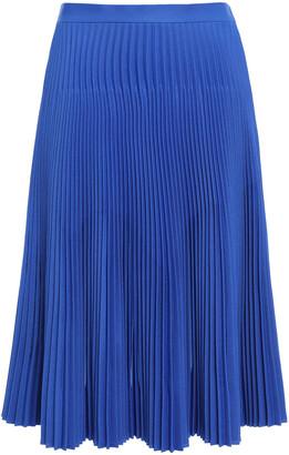 Maison Margiela Sliced Pleated Twill Skirt