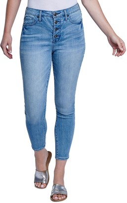 Seven7 Women's High-Rise Button Fly Ankle Skinny Jeans