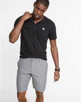Express classic fit 10 inch linen-cotton flat front shorts