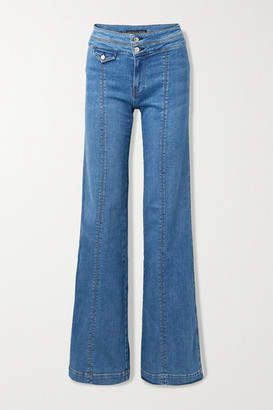 Veronica Beard Ember High-rise Wide-leg Jeans - Mid denim