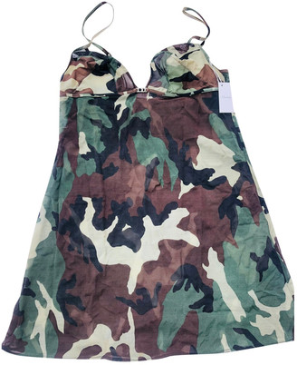 Christian Dior Khaki Viscose Dresses
