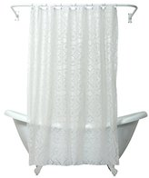 Zenna Home, India Ink Morocco Peva Shower Curtain Liner, White