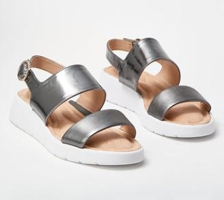 Taryn Rose Double Strap Slide Sandal - Laura