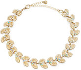 Lydell NYC Crystal Leaf Choker Necklace, Multi