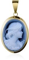 Del Gatto Young Woman Agate Stone Cameo Pendant