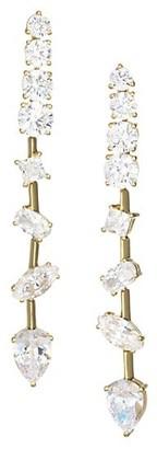 Adriana Orsini Gold-Plated Cubic Zirconia Tivoli Scatter Linear Earrings