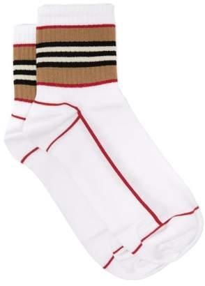 Burberry Icon Stripe Cotton Blend Socks - Mens - White