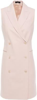 Theory Double-breasted Stretch-wool Mini Dress
