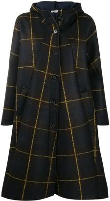 Stefano Mortari Check-Print Oversized Cape Coat