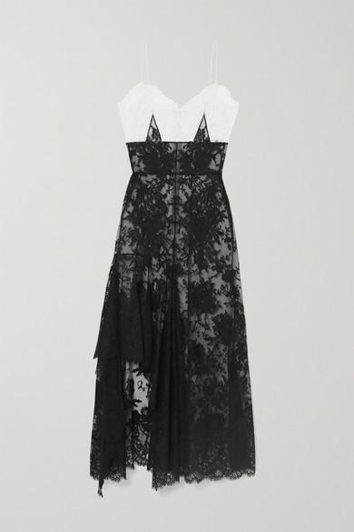 Alexander McQueen Ruffled Cotton-blend Lace Gown - Black