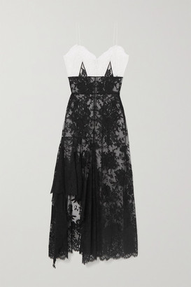 Alexander McQueen Ruffled Cotton-blend Lace Gown - Black