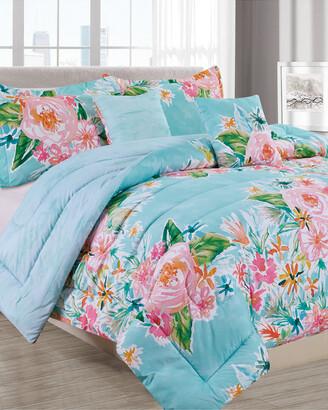 Melange Home Barbarian Boundless Floral 5Pc Comforter Set