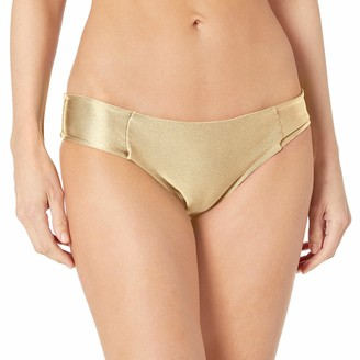 Luli Fama Women's Cosita Buena Side Tab Seamless Reversible Full Bikini Bottom