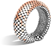John Hardy Women's Dot 22MM Cuff in Sterling Silver and 18K Rose Gold