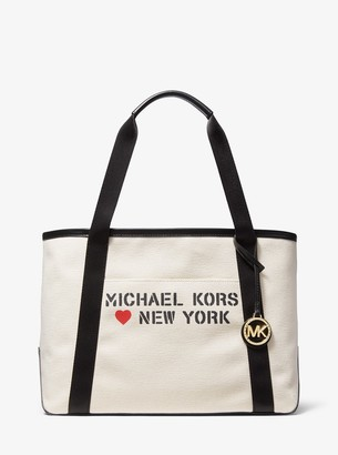 MICHAEL Michael Kors The Michael Large Canvas New York Tote Bag
