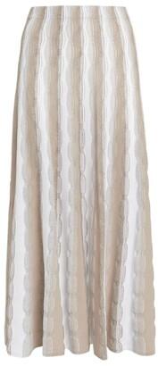 D-Exterior D.Exterior Metallic-Thread Skirt
