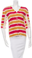 Fendi Striped V-Neck Cardigan