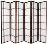 Oriental Furniture Premium Quality Low Price, 6-Feet Double Cross Folding Shoji Privacy Floor Screen
