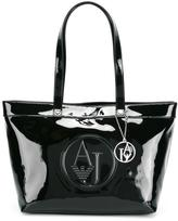 Armani Jeans embossed logo shoulder bag
