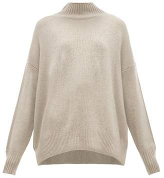 Allude High-neck Cashmere Sweater - Womens - Light Grey
