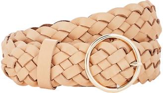 B-Low the Belt Tessa Braided Leather Buckle Belt