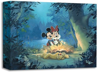 Disney Mickey Mouse and Minnie ''Family Camp Out'' Giclee by Rob Kaz
