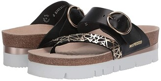 Mephisto Vik (Black Graphic/Sandal Nylon) Women's Sandals