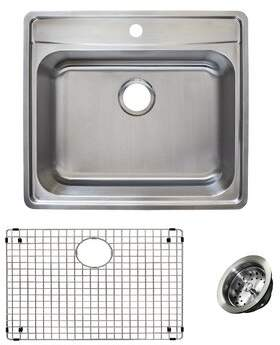 "Franke Evolution Stainless Steel 25"" L x 22"" W Drop-In Kitchen Sink"