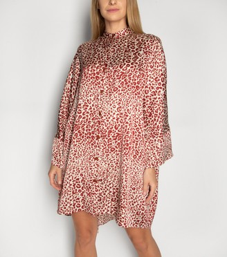 New Look Gini London Leopard Print Shirt Dress