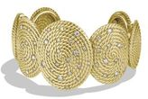 David Yurman Cable Coil Cuff in Gold with Diamonds