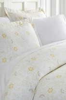 IENJOY HOME Home Spun Premium Ultra Soft 3-Piece Spring Vines Print Duvet Cover King Set - White