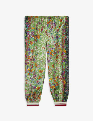 Gucci Liberty floral-print silk trousers 4-12 years