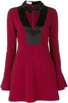 Giamba pointed collar short dress - women - Polyester/Spandex/Elastane/Acetate/Viscose - 40