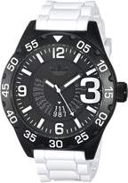 adidas Men's 'Newburgh' Quartz Plastic and Silicone Casual Watch, Color: (Model: ADH3136)