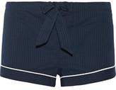 Bodas Seersucker Cotton Pajama Shorts