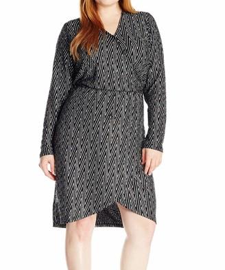 Junarose Women's Plus Size Donai Long Sleeve Occasion Dress