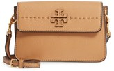 Tory Burch Mcgraw Leather Shoulder Bag - Beige