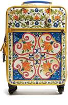 Dolce & Gabbana Majolica-print leather suitcase