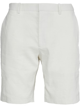 Theory Eco Crunch Linen Curtis Shorts