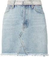 Alexandre Vauthier Crystal Waist Denim Mini Skirt