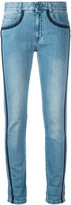 Stella McCartney embroidered trim jeans