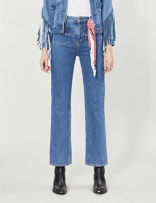 Maje Plaisir straight cropped high-rise jeans