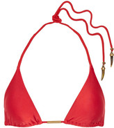 Vix Solid Triangle Bikini Top - Red