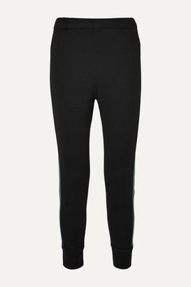 Prada Striped Cotton-blend Jersey Track Pants - Black