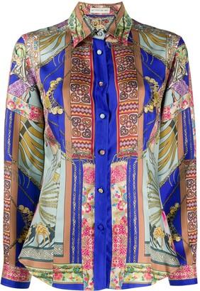 Etro Long Sleeve Printed Silk Shirt